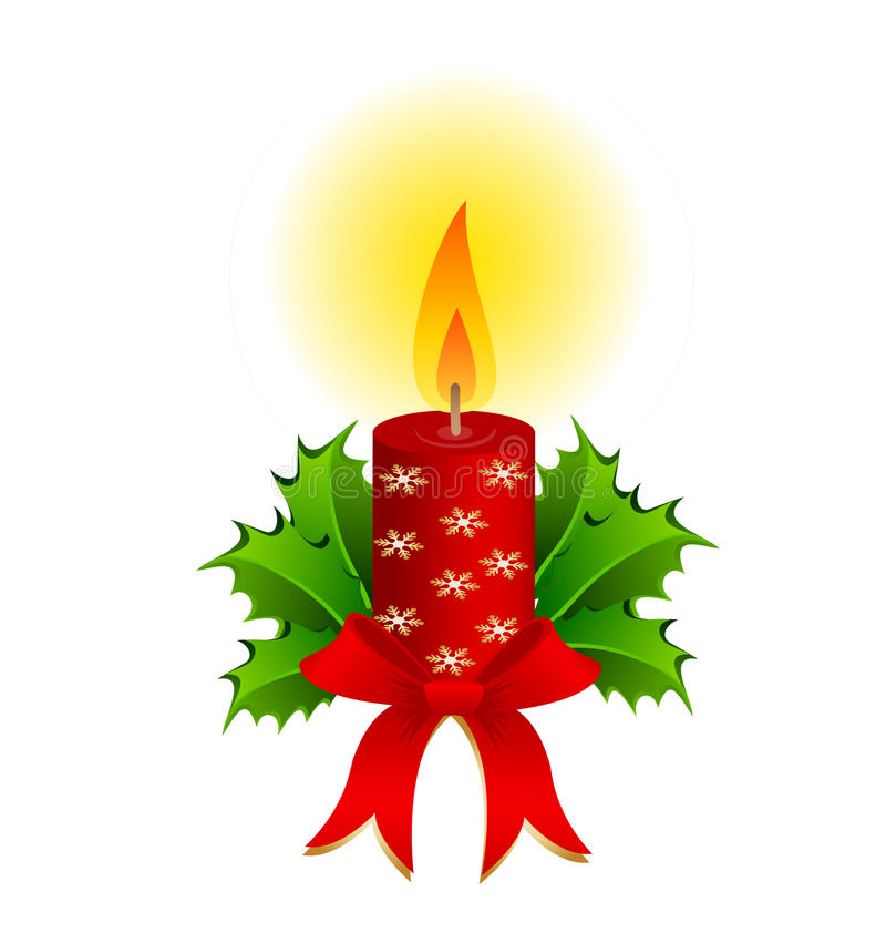 Kerstmiskaars stock illustratie