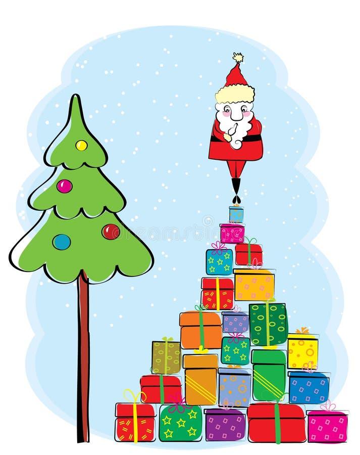Kerstmiskaart van de winter royalty-vrije illustratie
