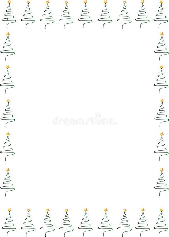 Kerstmiskader met Kerstbomen royalty-vrije stock afbeelding