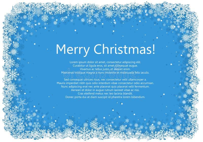 Kerstmiskader met sneeuwvlokken royalty-vrije illustratie