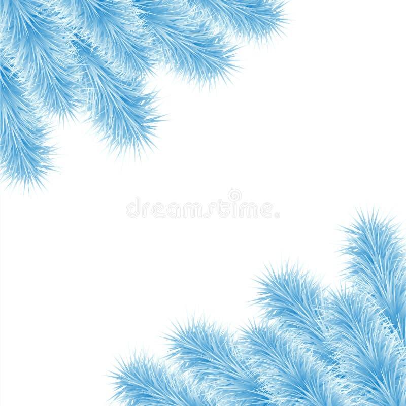 Kerstmiskader van blauwe boom 3 royalty-vrije illustratie