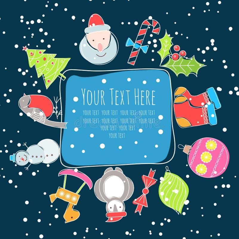 Kerstmiskader voor tekst royalty-vrije illustratie