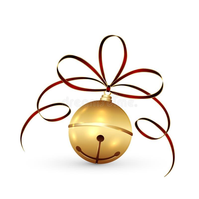Kerstmisklok en klatergoud royalty-vrije illustratie