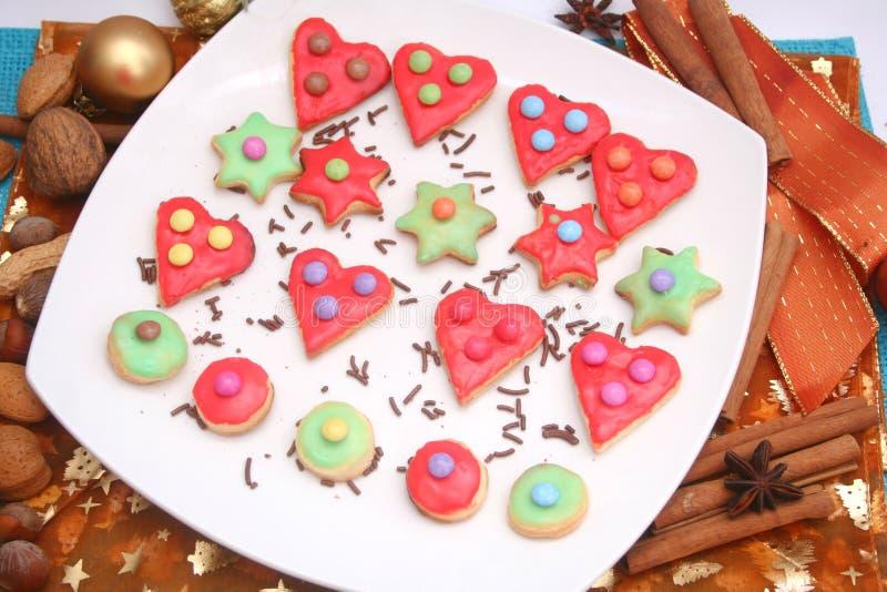 Kerstmiskoekjes stock afbeeldingen