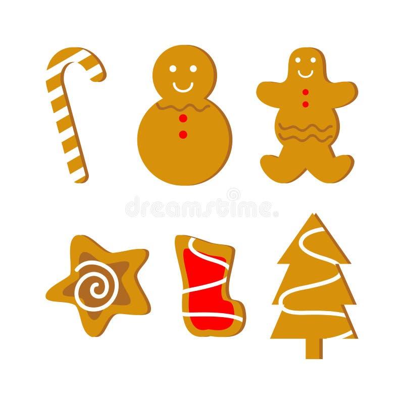 Kerstmiskoekjes royalty-vrije illustratie
