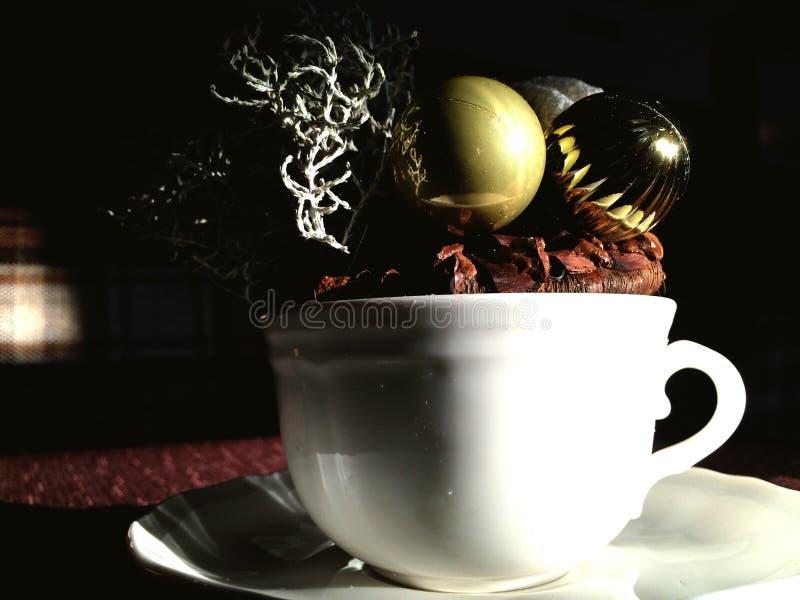 Kerstmiskoffie stock afbeeldingen