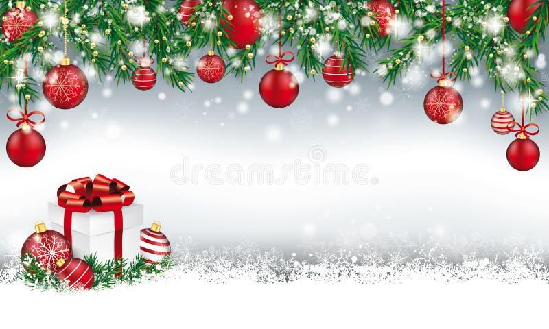 Kerstmiskopbal met van Spartakjes en Snuisterijen Gift stock illustratie
