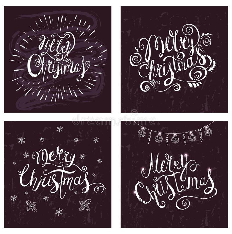 Kerstmiskrijt het Van letters voorzien op het Bord royalty-vrije illustratie