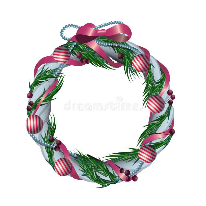 Kerstmiskroon vector illustratie