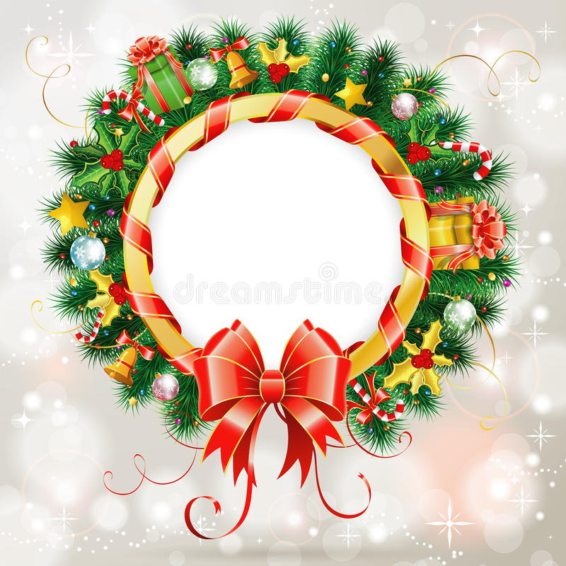 Kerstmiskroon stock illustratie