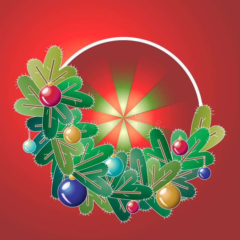 Kerstmiskroon met decoratie royalty-vrije stock fotografie