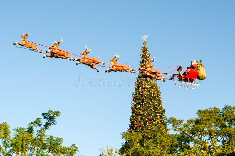 Kerstmislandschap bij het Bosje royalty-vrije stock fotografie