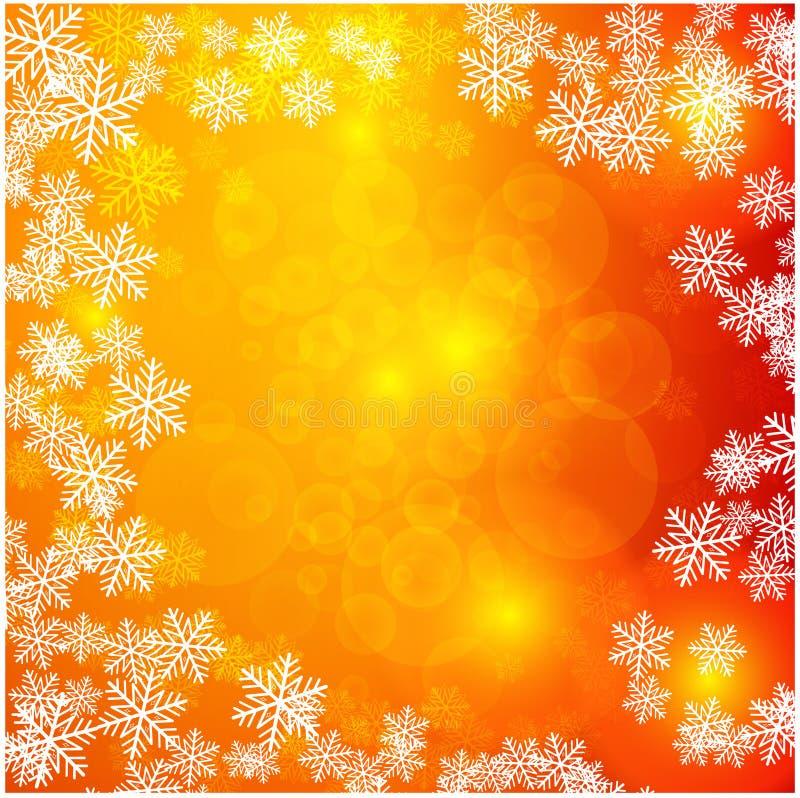 Kerstmislicht met sneeuwvlokken Het kan voor prestaties van het ontwerpwerk noodzakelijk zijn royalty-vrije illustratie