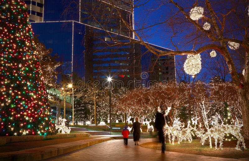 Kerstmislichten stock fotografie
