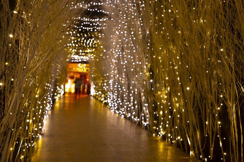 Kerstmislichten in komst in Zagreb stock afbeelding