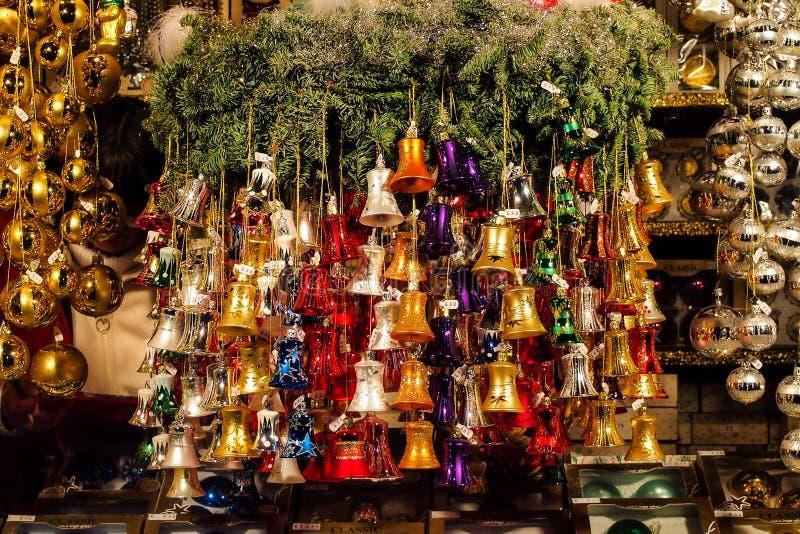 Kerstmismarkt in München, Beieren, Duitsland, Europa royalty-vrije stock foto's