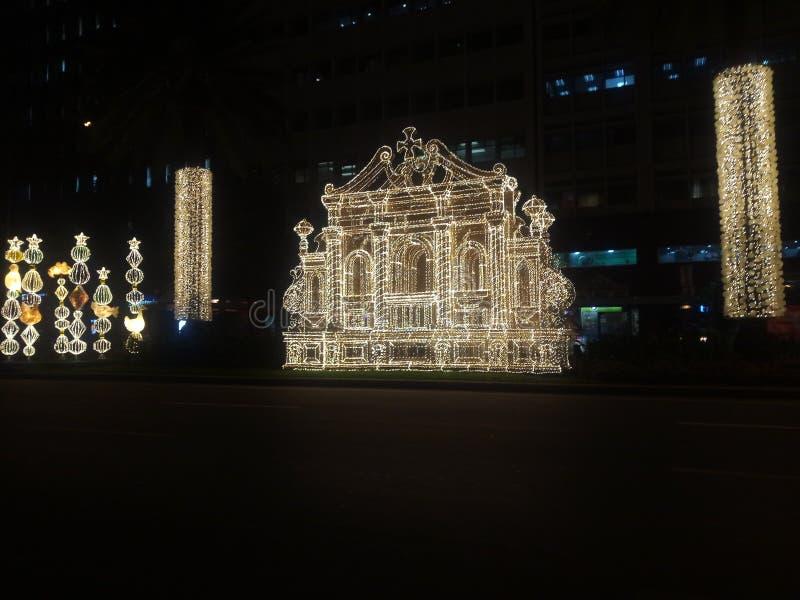 Kerstmismarkt in München, Duitsland royalty-vrije stock fotografie