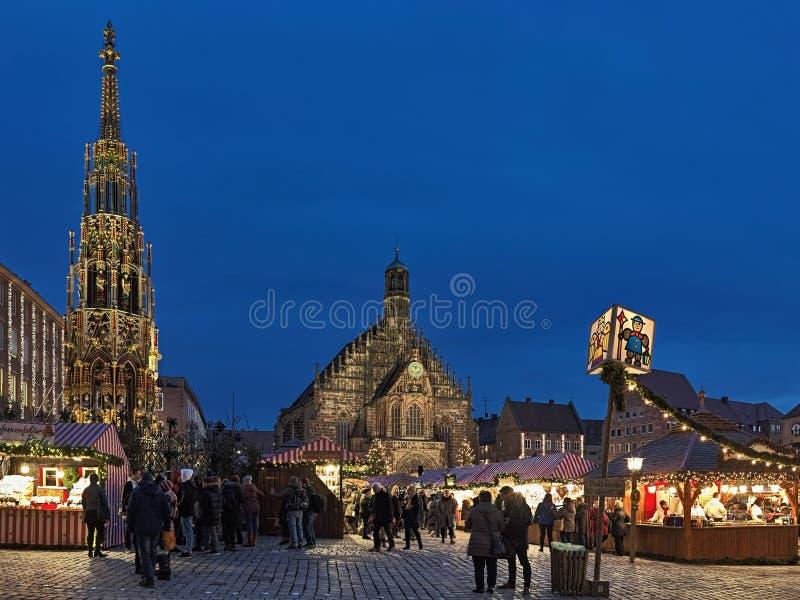 Kerstmismarkt in Nuremberg, Duitsland royalty-vrije stock fotografie