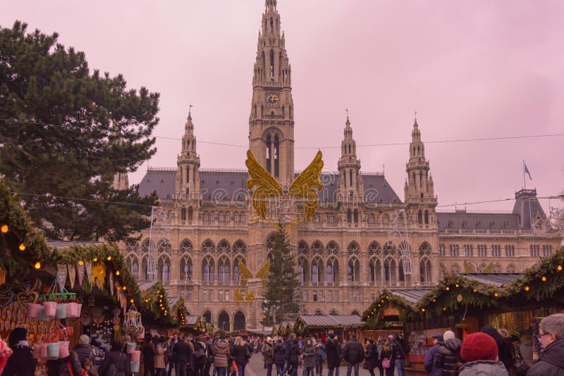 Kerstmismarkt 2015 Oostenrijk van Wenen royalty-vrije stock foto
