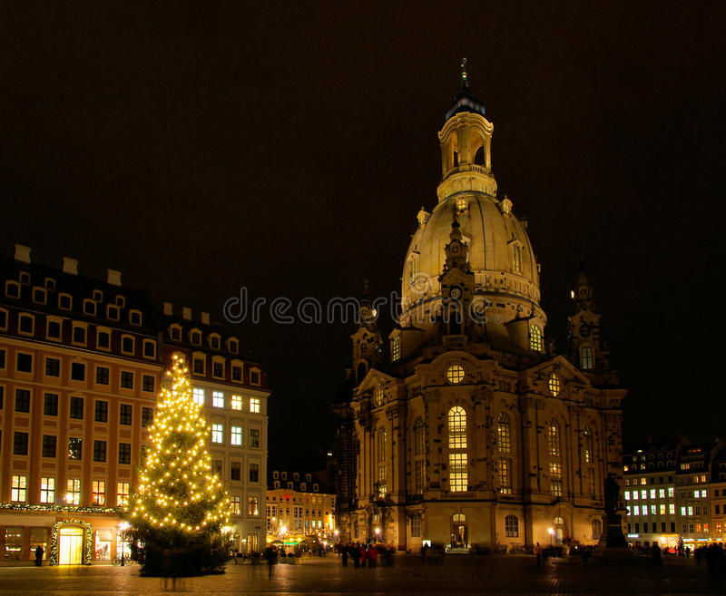 Kerstmismarkt van Dresden royalty-vrije stock afbeeldingen