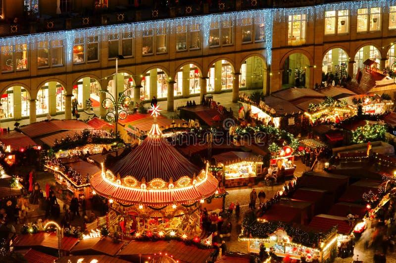 Kerstmismarkt van Dresden stock foto