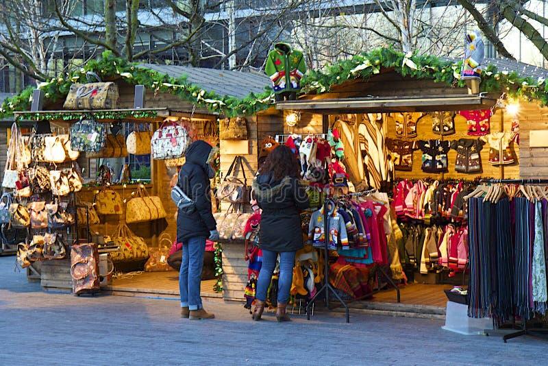 Kerstmismarkten in Londen stock fotografie