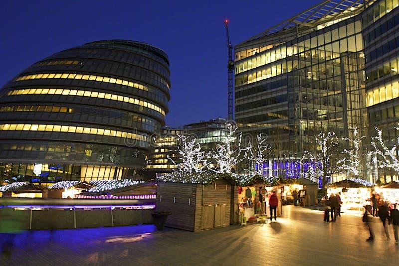 Kerstmismarkten in Londen stock afbeeldingen