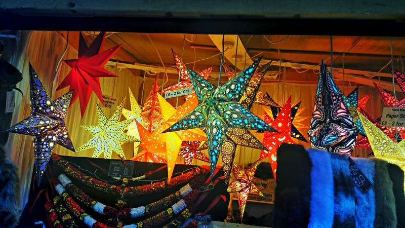 Kerstmismarktkraam stock foto