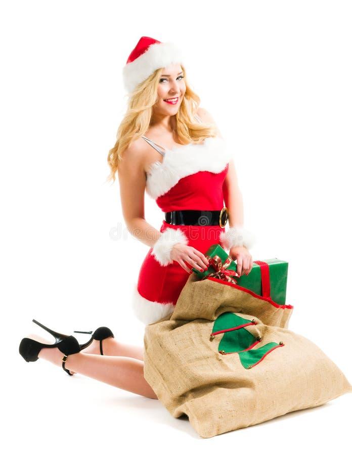 Kerstmismeisje royalty-vrije stock foto