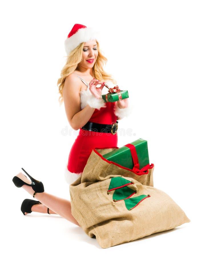Kerstmismeisje royalty-vrije stock foto's