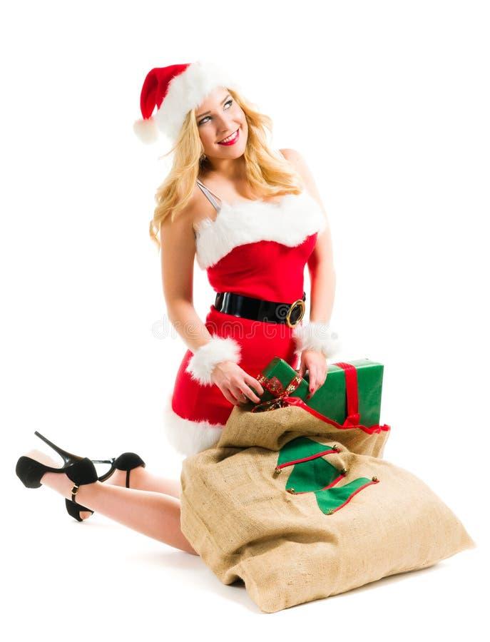 Kerstmismeisje royalty-vrije stock afbeeldingen
