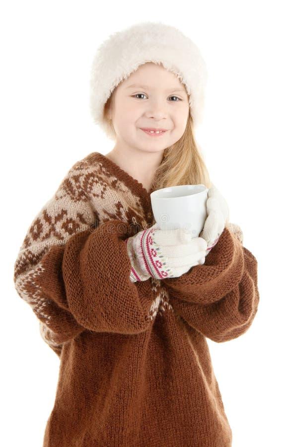 Kerstmismeisje van de baby stock foto's