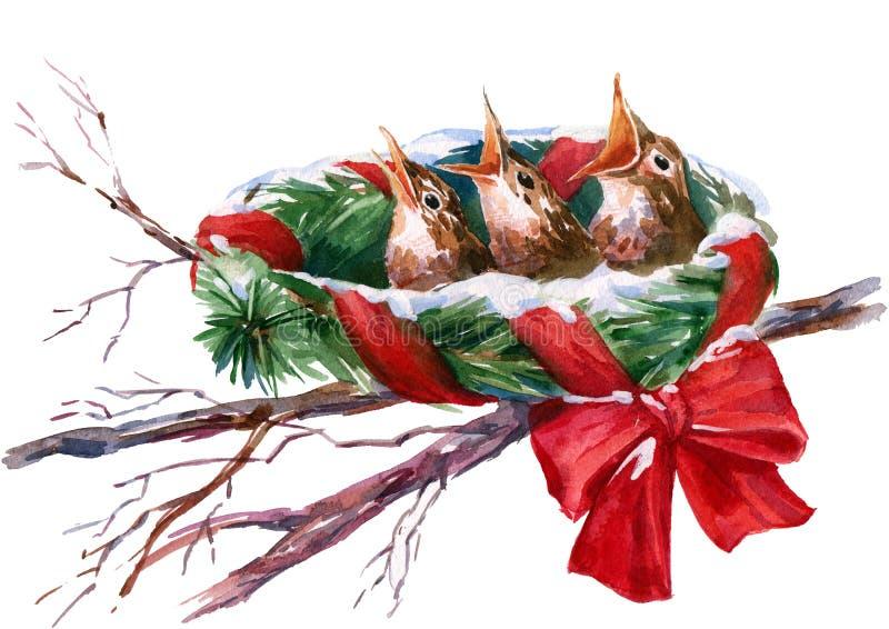 Kerstmisnest vector illustratie