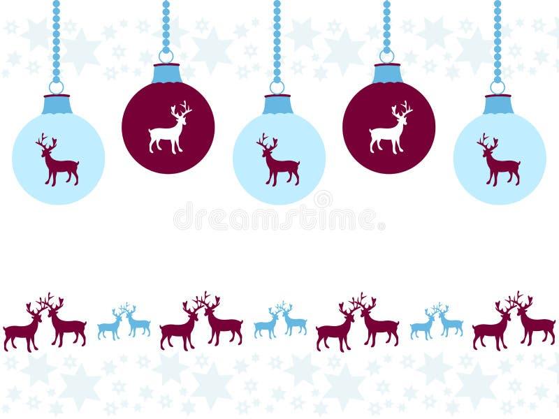 Kerstmisornamenten met feestelijk ontwerp royalty-vrije illustratie