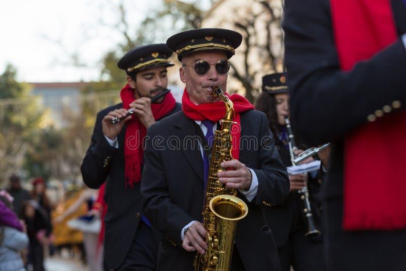 Kerstmisparade van Braga, Braga portugal royalty-vrije stock foto's