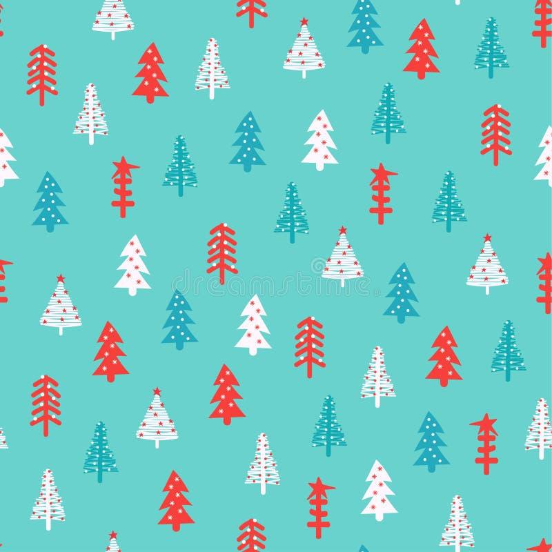 Kerstmispatroon met sparren vector illustratie