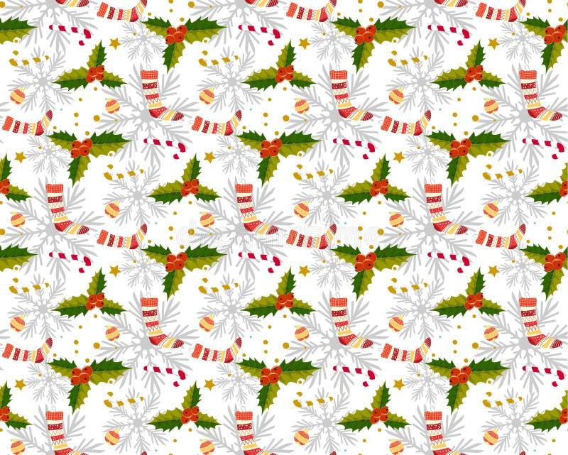 Kerstmispatroon naadloos s royalty-vrije illustratie