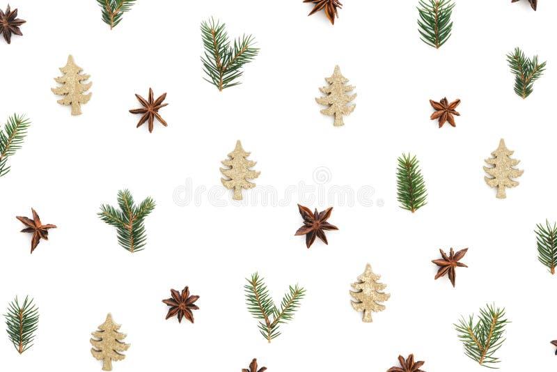 Kerstmispatroon op witte achtergrond royalty-vrije stock fotografie
