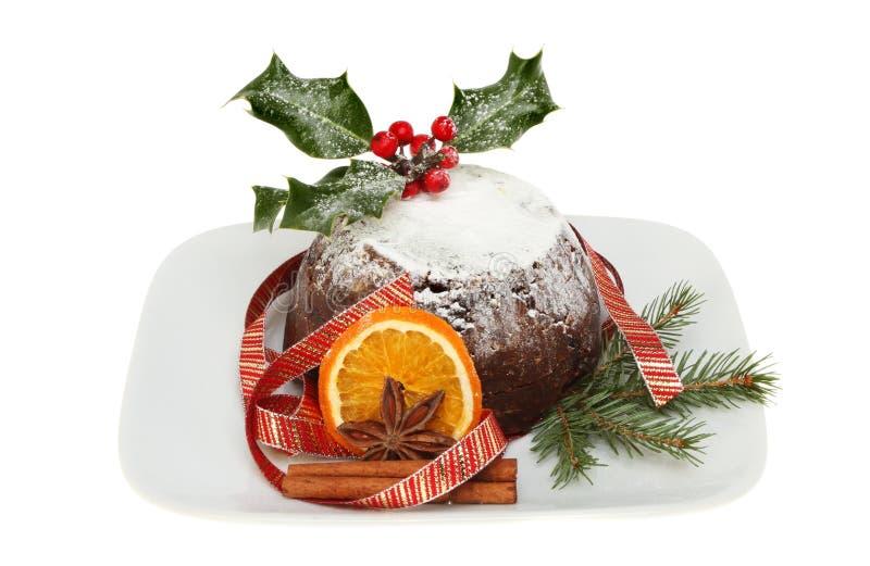 Kerstmispudding royalty-vrije stock afbeelding