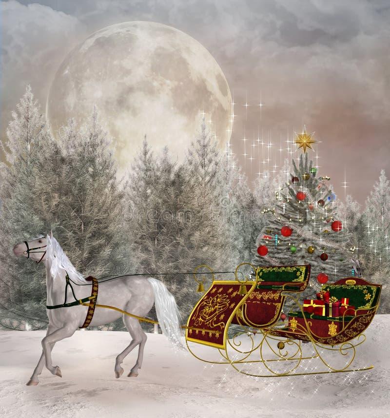 Kerstmisreis royalty-vrije illustratie