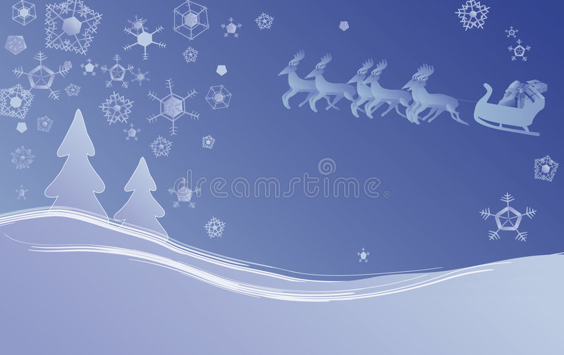 Kerstmisscène Van De Winter Stock Foto's