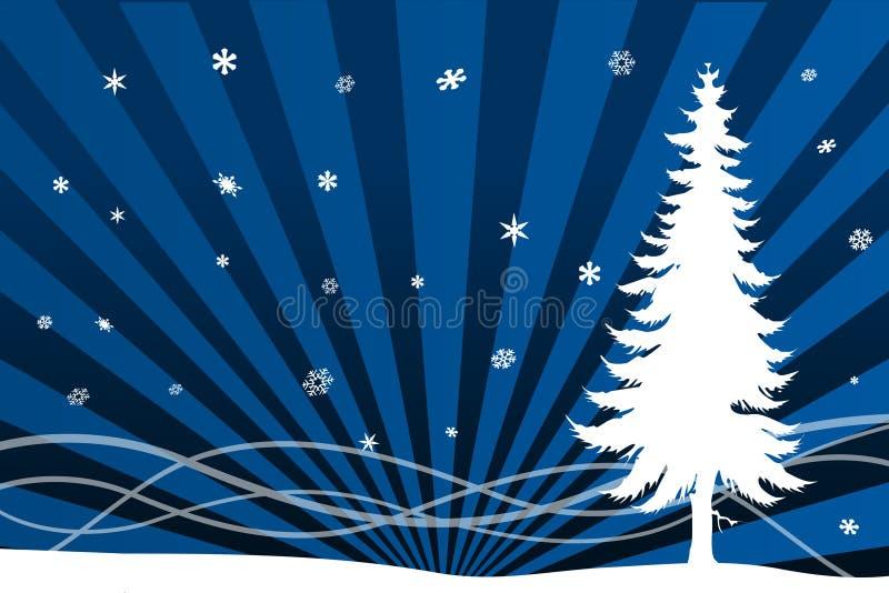 Kerstmisscenario van de winter stock illustratie
