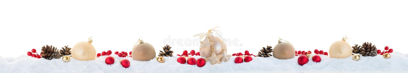 Kerstmisslinger op wit stock fotografie