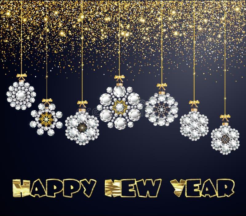 Kerstmissneeuwvlok Diamond Glamour Illustration Wallpaper stock illustratie