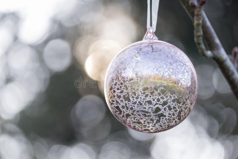 Kerstmissnuisterij die buiten hangen royalty-vrije stock fotografie