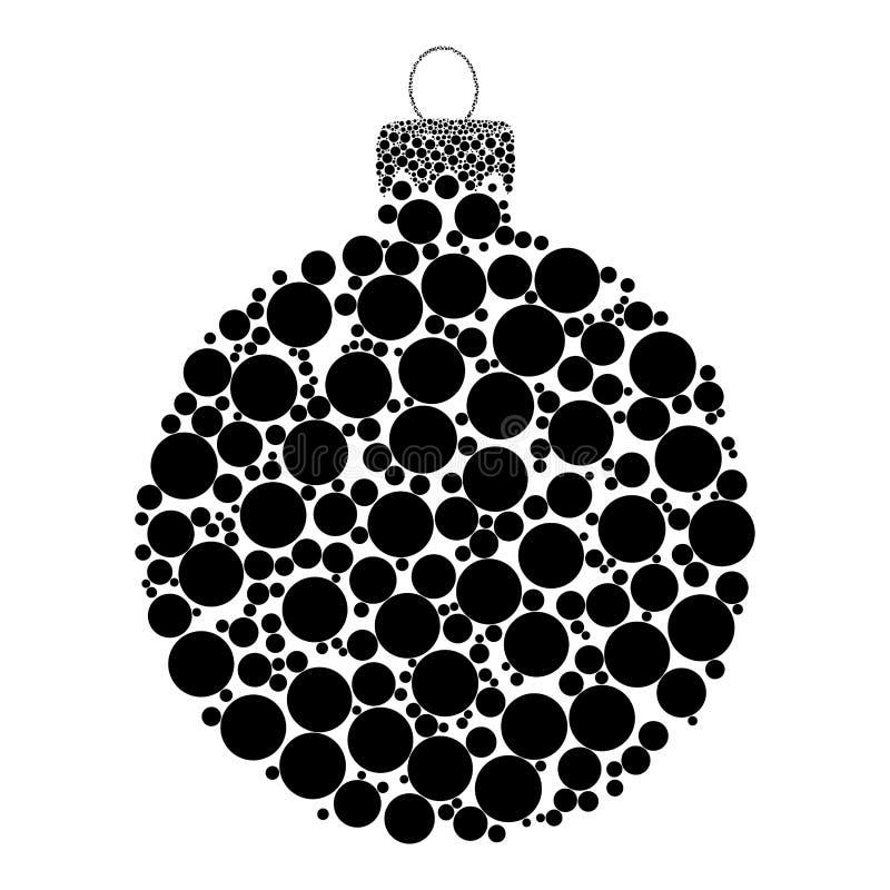 Kerstmissnuisterij gestippeld vectordieontwerp op witte backgrou wordt geïsoleerd vector illustratie