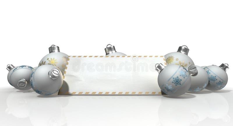 Kerstmissnuisterijen met Seizoenengroeten vector illustratie