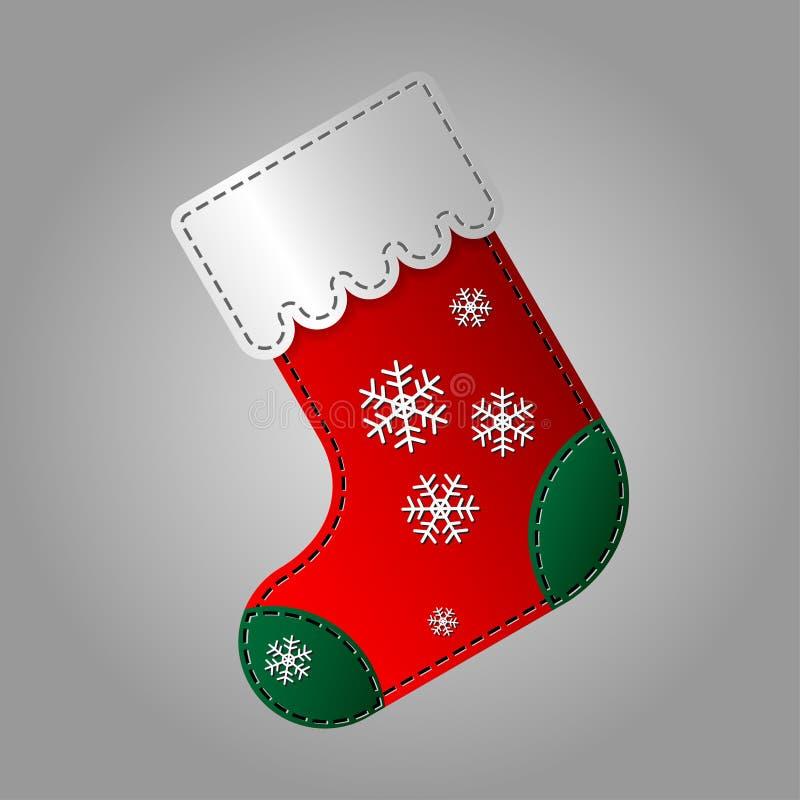 Kerstmissok met sneeuwvlokken stock illustratie