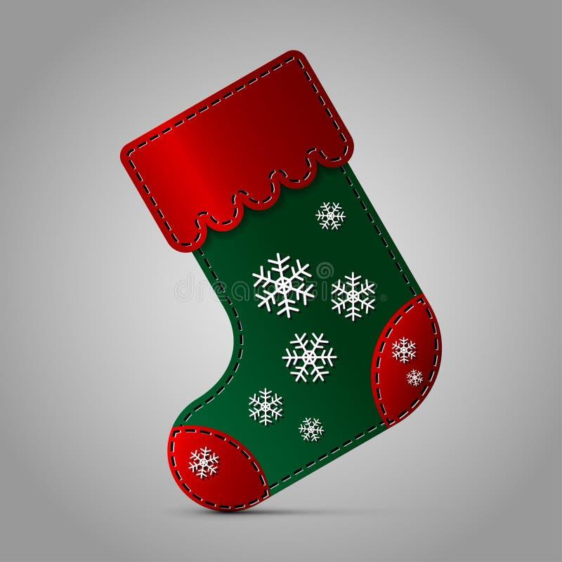 Kerstmissok - met sneeuwvlokken royalty-vrije illustratie