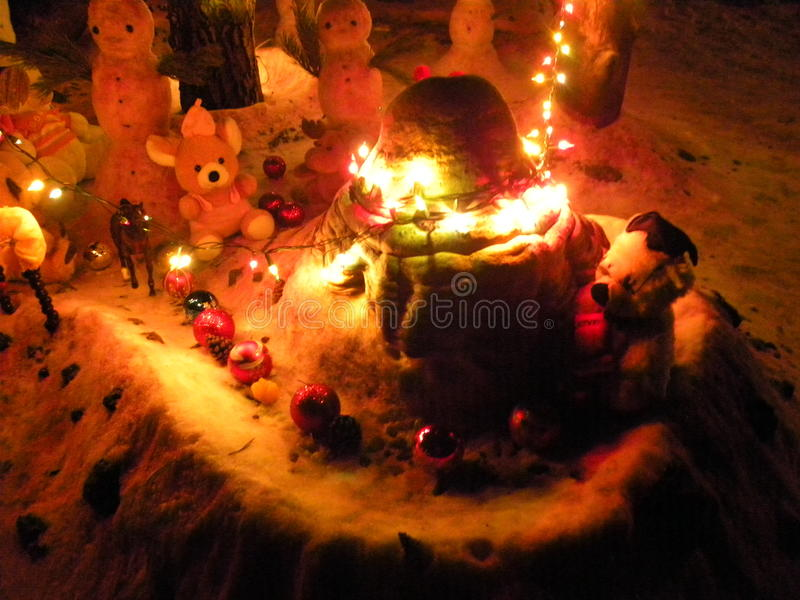 Kerstmisspelen voor jongens en meisjes royalty-vrije stock afbeelding